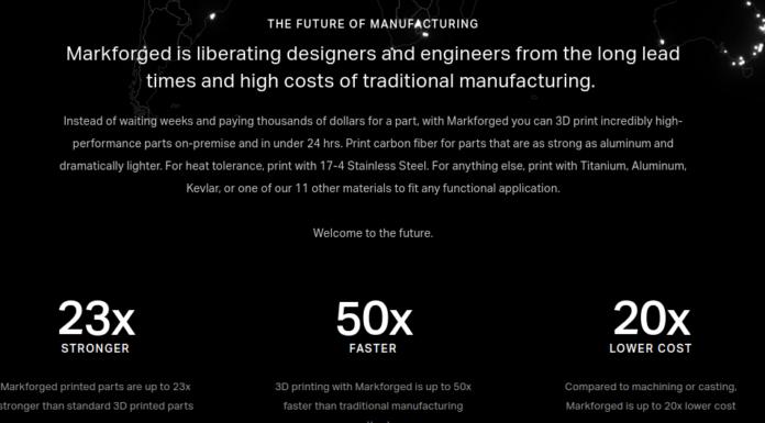 Markforged 3D Printers Raises $30 Million in Series C Funding