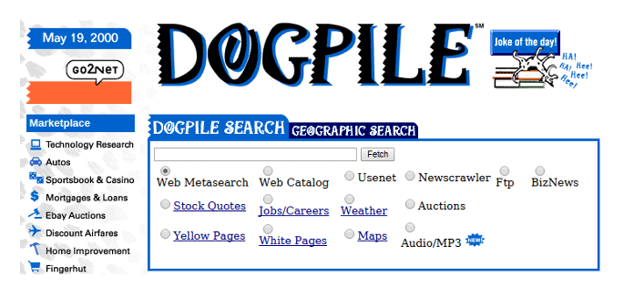 The Internet Before Google: A Nostalgic Look At 7 (almost
