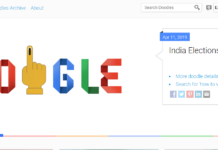 Google Doodle for India 2019 Lok Sabha Elections