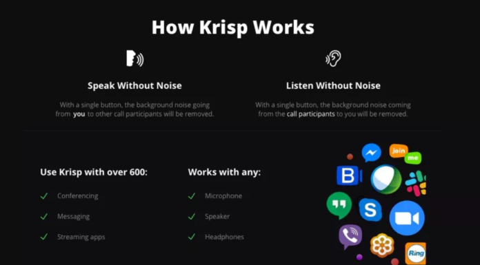 The application that eliminates background noise in calls or video calls arrives in Windows