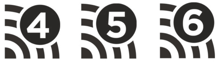 Wifi identification icons