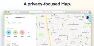 Arcane Maps - a privacy focused alternative to google maps