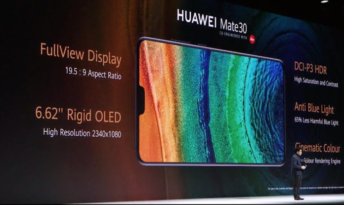 Huawei Mate 30: triple camera, Kirin 990, fast charge and OLED