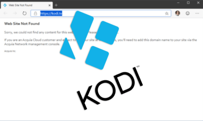 Kodi.tv runs out of website until further notice
