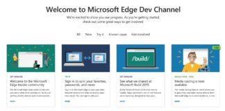 Microsoft Edge on Dev Channel gets an update