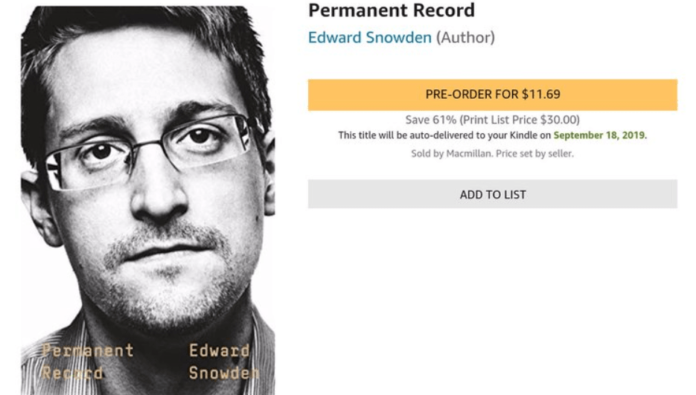 US claims whistleblower Edward Snowden's revenue from his autobiography