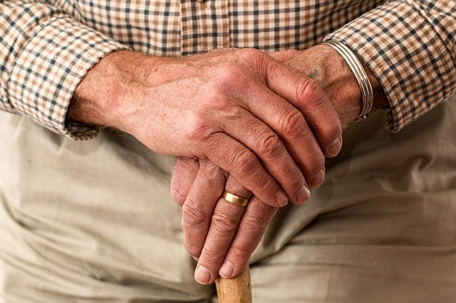 Fluctuations in the patterns of old people's movements were associated with an increased risk of death from all causes