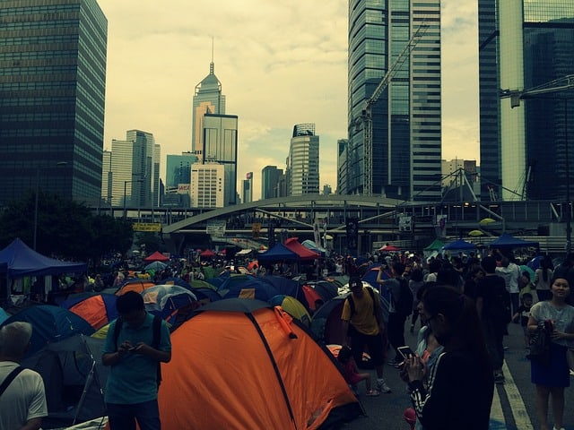 Hong Kong: Rally for the young gunshot wounded