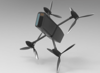 Interceptor: a small quadrocopter that can knock down an intruder drone
