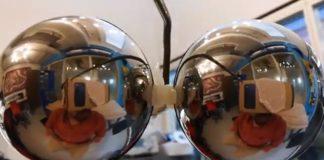 Mirror Hemispheres Provide Cardboard VR Helmet with Motion Capture System
