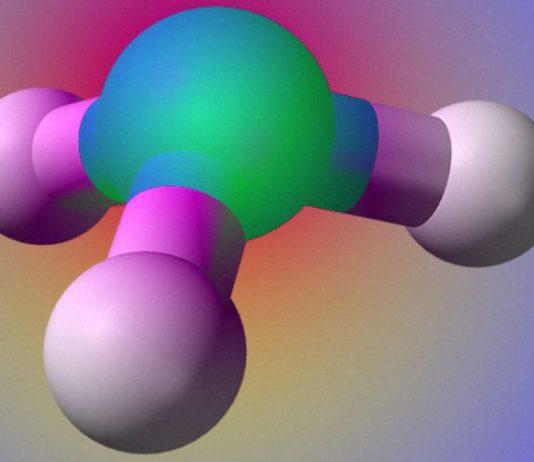 A strong electric field forced the ammonia molecule to stop turning out