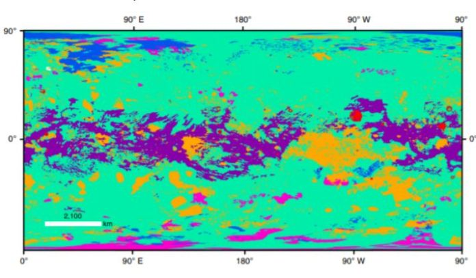 Astronomers compiled the first Geo-map of Saturn's largest moon Titan