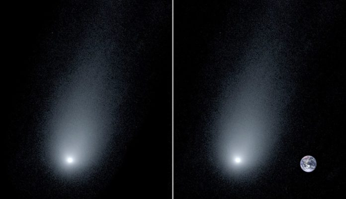 Astronomers measured the tail length of the first interstellar comet