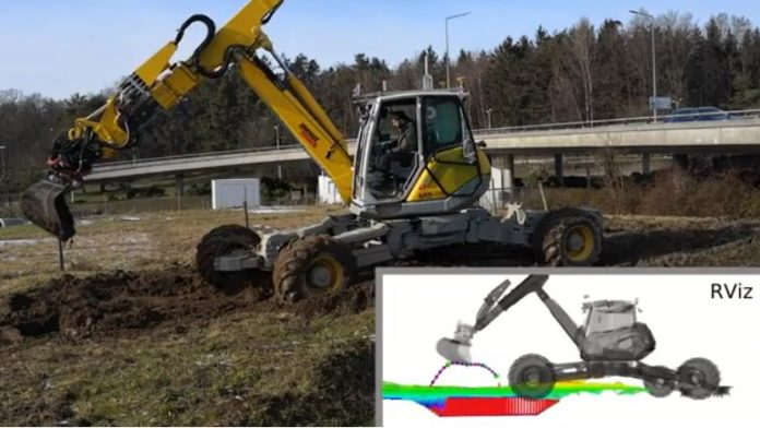 This is how a walking excavator can help digging trenches of various shapes