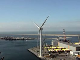 A turbine prototype that has just shattered the world record for wind power production