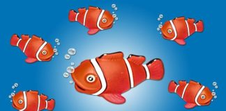 A version of 'Jingle Bells' sung by the famous Clown-fish 'Nemo'