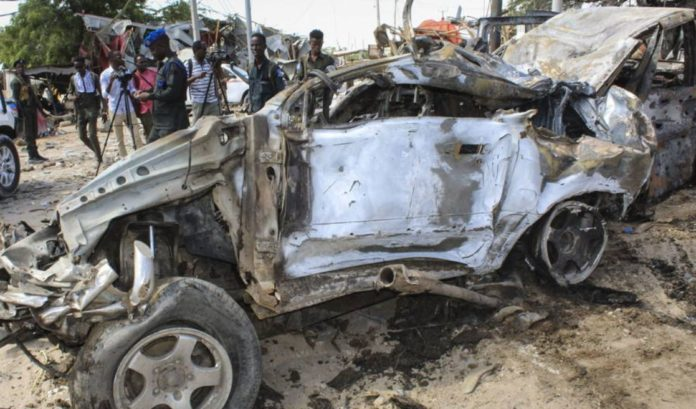 At least 61 dead and 50 injured when a car bomb exploded in Somalia