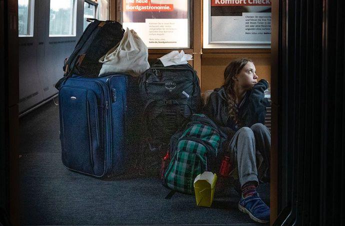 Greta Thunberg's photograph on a