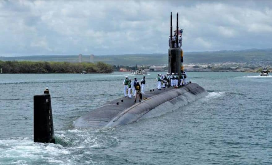 Submarine USS Columbia (SSN 771) of the Los Angeles Class (US NAVY)