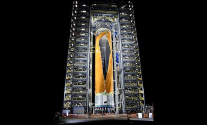 Testing of Space Launch System tank ends in controlled rupture