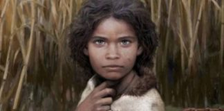 The ancient blue-eyed hunter-gatherer was identified by chewing gum