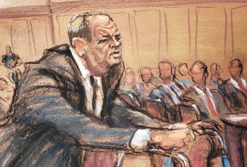 Harvey Weinstein during the trial