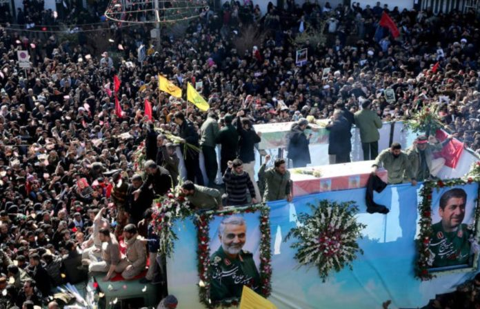 Several killed in a stampede during General Soleimani's funeral in Iran