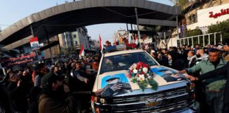 Thousands rally in Baghdad for Suleiman funeral procession