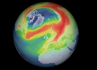 The European Space Agency confirms the existence of the rare ozone hole in the Arctic