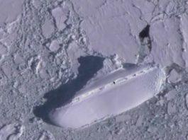 A Mysterious frozen ship discovered near Antarctica