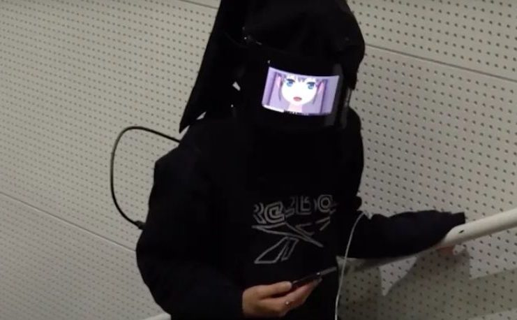 Engineers create a digital mask that allows you to express emotions through an anime avatar